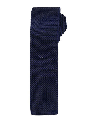 Slim Knitted Tie Premier - navy