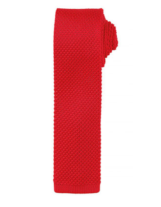 Slim Knitted Tie Premier - red