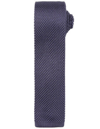 Slim Knitted Tie Premier - steel grey