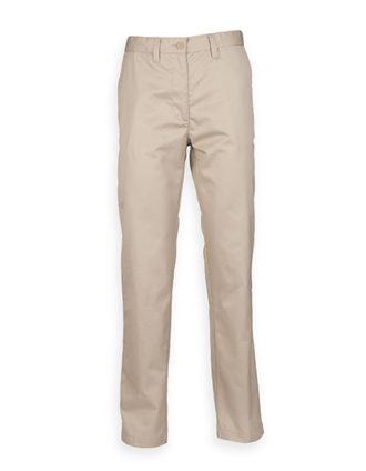 Ladies Chino Trousers Henbury - stone