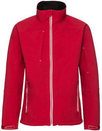 Mens Bionic Softshell Jacket Russell - classic red