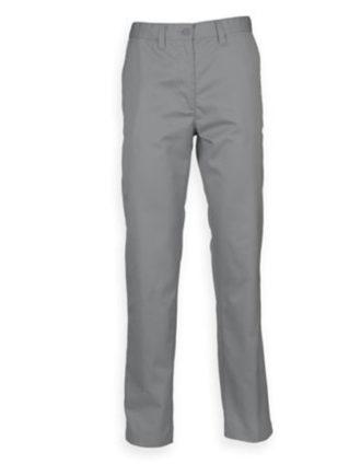 Mens Chino Trousers Henbury - steel grey