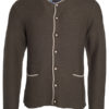 Mens Traditional Knitted Jacket James & Nicholson - brown melange beige royal