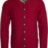 Mens Traditional Knitted Jacket James & Nicholson - red anthracite melange green