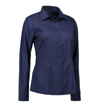 Non Iron Bluse Modern Fit Identity - navy
