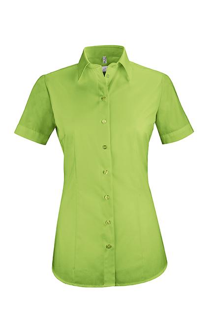 Greiff Bluse Kurzarm - apfelgrün