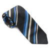 Greiff Krawatte - blau marine gestreift