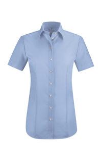 Greiff Premium Bluse Regular Fit Kurzarm - bleu