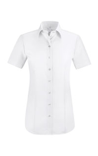 Greiff Premium Bluse Regular Fit Kurzarm - weiß