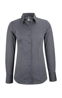 Greiff Premium Bluse Regular Fit - fil a fil anthrazit
