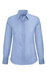 Greiff Premium Bluse Regular Fit - fil a fil bleu