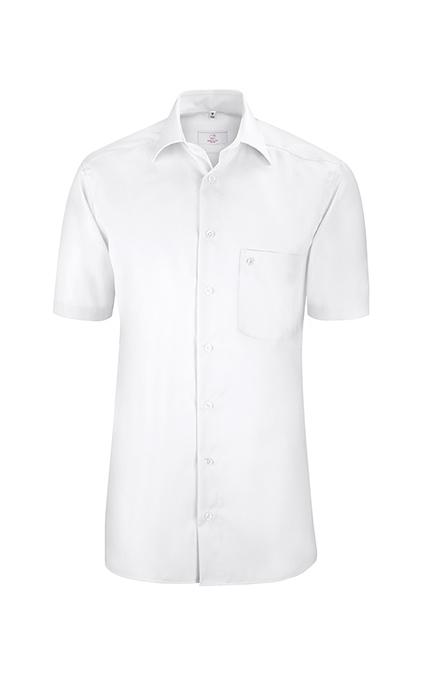 Greiff Premium Hemd Regular Fit Kurzarm - weiß