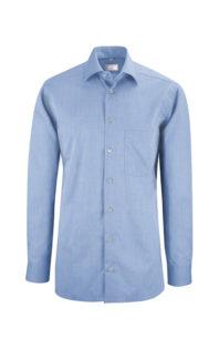 Greiff Premium Hemd Regular Fit - fil a fil bleu