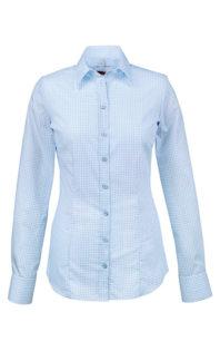 Greiff Premium Hemd Slim Fit - bleu gemustert