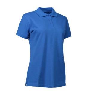 Stretch Poloshirt Damen Identity - azur