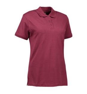 Stretch Poloshirt Damen Identity - bordeaux