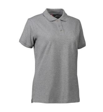 Stretch Poloshirt Damen Identity - grau meliert