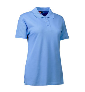 Stretch Poloshirt Damen Identity - hellblau