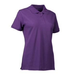 Stretch Poloshirt Damen Identity - lila