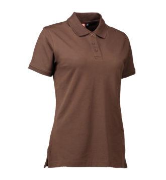 Stretch Poloshirt Damen Identity - mokka