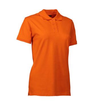 Stretch Poloshirt Damen Identity - orange
