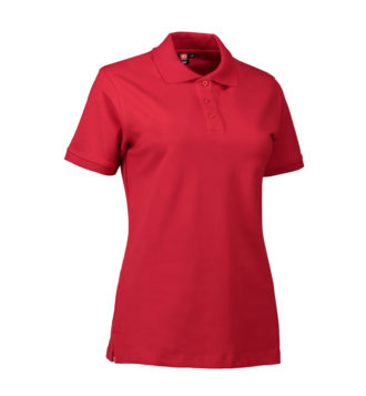 Stretch Poloshirt Damen Identity - rot