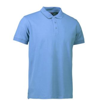 Stretch Poloshirt Identity - hellblau