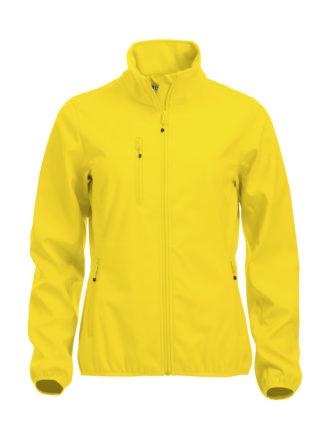 Basic Softshell Jacket Ladies Clique - lemon
