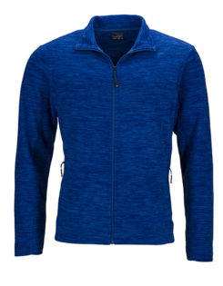 Herren Fleecejacke James & Nicholson - royal melange blue