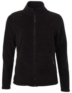 Ladies Fleece Jacket James & Nicholson - black
