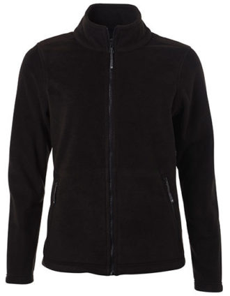 Ladies Fleece Jacket James & Nicholson - black