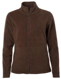 Ladies Fleece Jacket James & Nicholson - brown