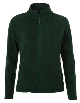 Ladies Fleece Jacket James & Nicholson - dark green