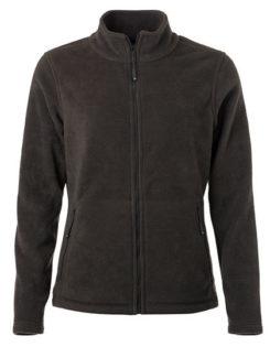 Ladies Fleece Jacket James & Nicholson - dark grey