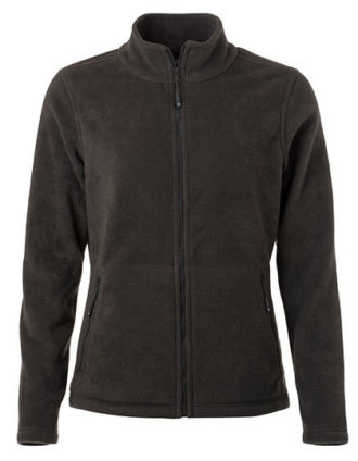 Ladies Fleece Jacket James & Nicholson - dark grey