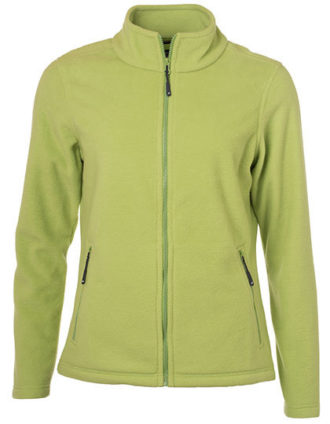 Ladies Fleece Jacket James & Nicholson - lime green