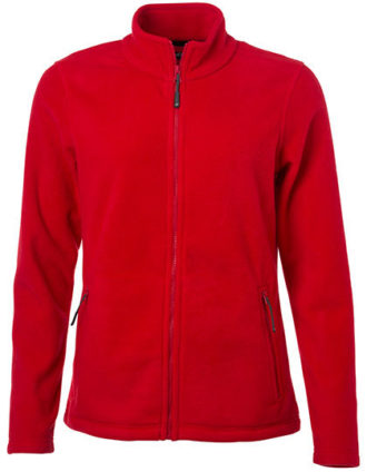 Ladies Fleece Jacket James & Nicholson - red
