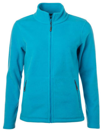 Ladies Fleece Jacket James & Nicholson - turquoise