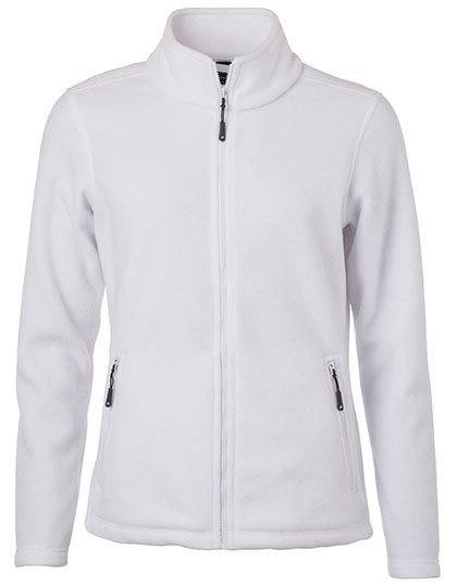 Ladies Fleece Jacket James & Nicholson - white