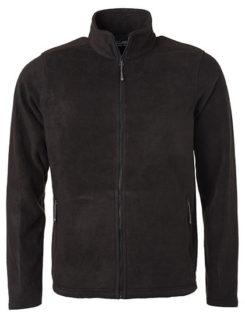 Mens Fleece Jacket James & Nicholson - black