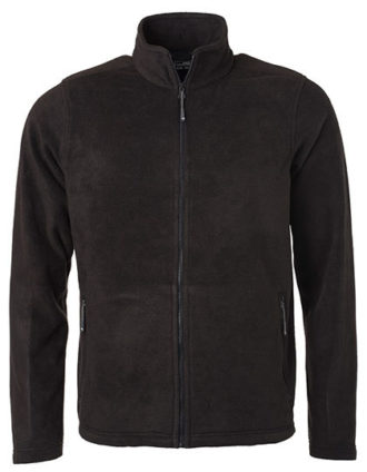 Mens Fleece Jacket James & Nicholson - black