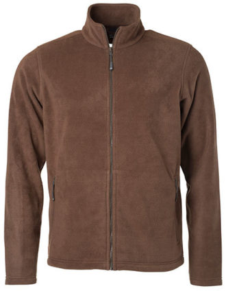 Mens Fleece Jacket James & Nicholson - brown