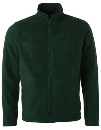 Mens Fleece Jacket James & Nicholson - dark green