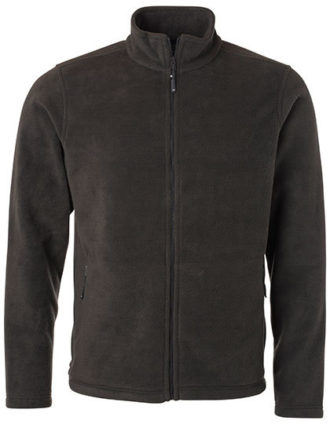 Mens Fleece Jacket James & Nicholson - dark grey