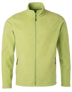Mens Fleece Jacket James & Nicholson - lime green