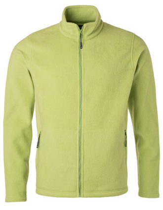 Mens Fleece Jacket James & Nicholson - lime green