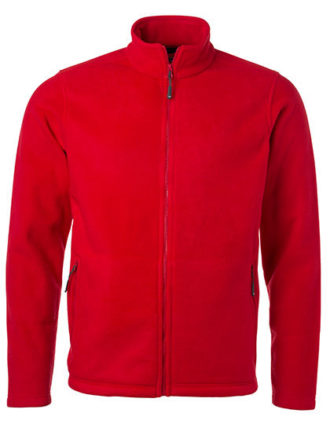 Mens Fleece Jacket James & Nicholson - red