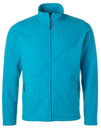 Mens Fleece Jacket James & Nicholson - turquoise