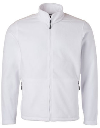 Mens Fleece Jacket James & Nicholson - white