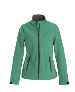 Trial Ladies Softshell Jacket Printer - grün